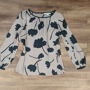 Black And Brown Flower Blouse